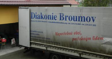 Humanitární sbírka šatstva pro Diakonii Broumov 2021